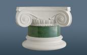 Small scagliola column in antico verde