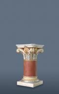 Small gilded scagliola column