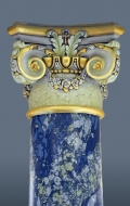 Scagliola column with gilded details ( 10 / 11 )