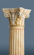 Scagliola column with gilded details ( 9 / 11 )