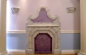 Beige scagliola fireplace ( 2 / 2 )