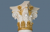 Scagliola column capital with gilded details ( 7 / 7 )
