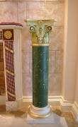 Scagliola column in green of Veroia