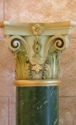 Gilded Corinthian capital detail