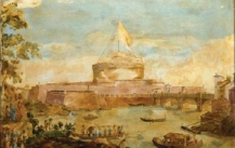 Enrico Hugford, Castle of Sant' Angelo (1755, colorful Scagliola work, Florence, Gallery Bianco Bianchi)