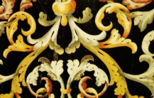 Detail of scagliola work in Carpi\'s Cathedral (1696)