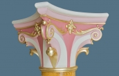Close-up of scagliola column capital with gilded details ( 2 / 2 )