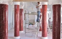 Scagliola colonne Cattedrale di St. Giovanni, Andros