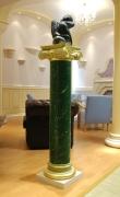 Scagliola column in green of Veroia ( 1 / 2 )