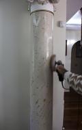 Polishing scagliola column