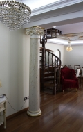 Rear view of right scagliola column