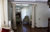 Installed scagliola columns