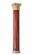 Big red scagliola column