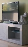 Right view of Concrete look scagliola TV cabinet