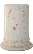 Semi-white scagliola pedestal