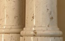 Base of scagliola columns