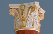 Gilded capital of scagliola column