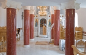 Completed installation of scagliola columns ( 1 / 5 )