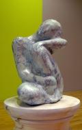 Decorative scagliola statuette ( 1 / 7 )