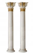 Pair of white scagliola columns
