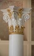 Gilded capital of white scagliola column ( 1 / 2 )