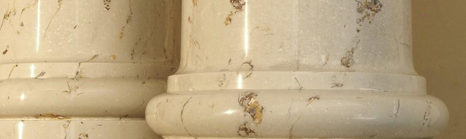 Beige of Ioannina scagliola columns
