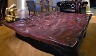 Big scagliola red table