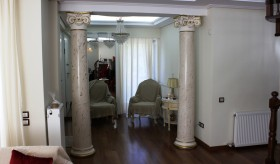 Scagliola columns in private residence