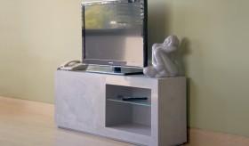 Concrete look scagliola TV cabinet